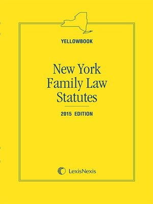 cover image of New York Family Law Statutes