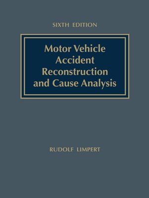 cover image of Motor Vehicle Accident Reconstruction and Cause Analysis