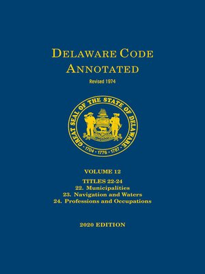 cover image of Delaware Code Annotated