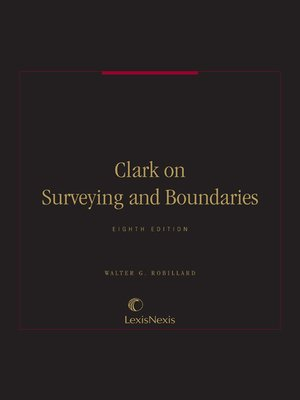 cover image of Clark on Surveying and Boundaries