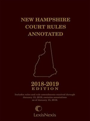 cover image of New Hampshire Court Rules Annotated