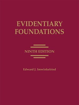 cover image of Evidentiary Foundations