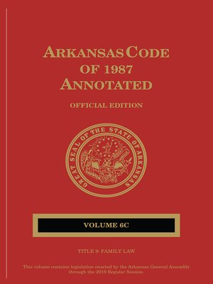 cover image of Arkansas Code of 1987 Annotated