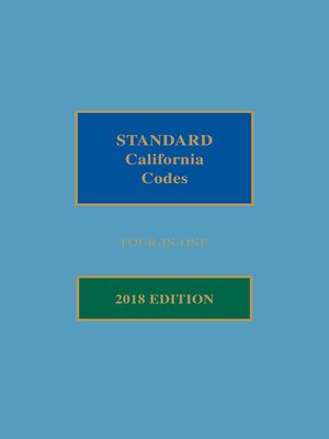 cover image of Matthew Bender Standard California Codes: 4-in-1