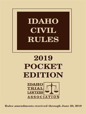 cover image of Idaho Civil Rules