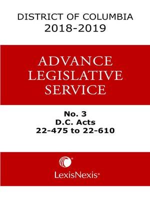 cover image of District of Columbia Lexis Advance Legislative Service