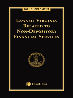 cover image of Laws of Virginia Related to Non-Depository Financial Services