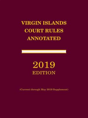 cover image of Virgin Islands Court Rules Annotated