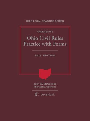 cover image of Anderson's Ohio Civil Rules Practice with Forms