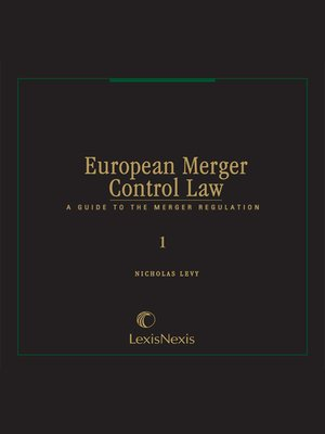 cover image of European Merger Control Law
