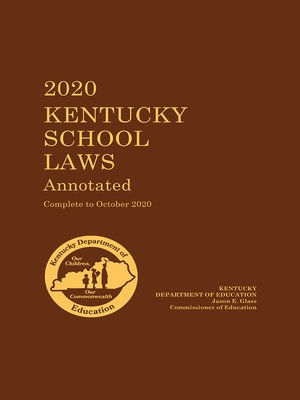 cover image of Kentucky School Laws Annotated