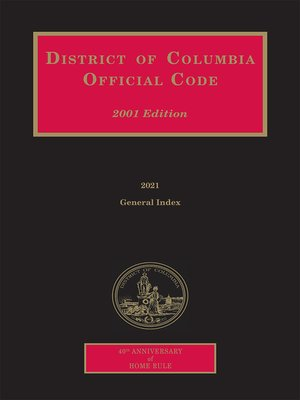 cover image of District of Columbia Official Code