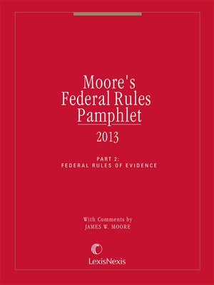 cover image of Moore's Federal Rules Pamphlet