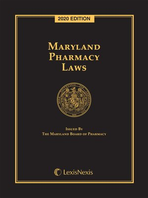 cover image of Maryland Pharmacy Laws