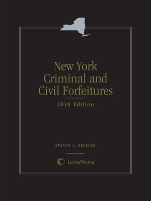 cover image of New York Criminal and Civil Forfeitures