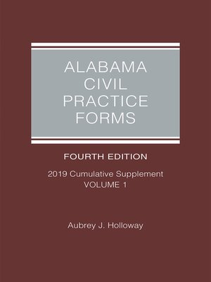 cover image of Alabama Civil Practice Forms