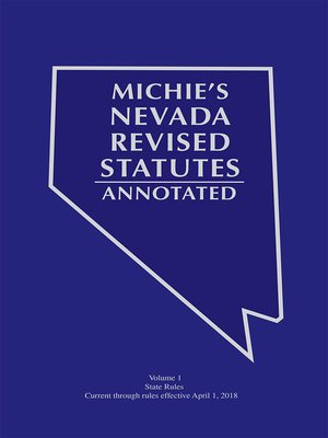 cover image of Michie's Nevada Revised Statutes Annotated: Court Rules Annotated