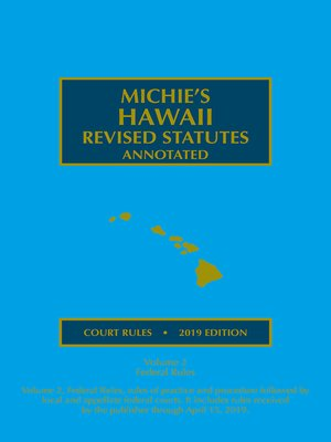 cover image of Hawaii Court Rules Annotated