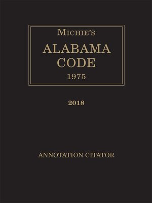 cover image of Michie's Alabama Citator
