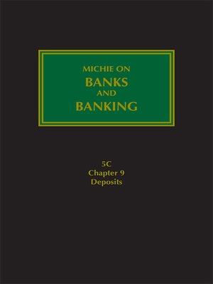 cover image of Michie on Banks and Banking