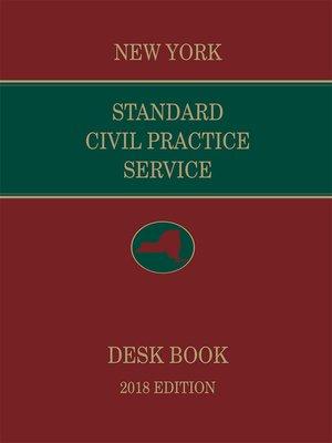 cover image of New York Standard Civil Practice Service Deskbook