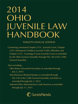 cover image of 2014 Ohio Juvenile Law Handbook
