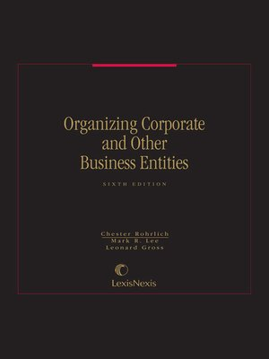 cover image of Organizing Corporate and Other Business Enterprises