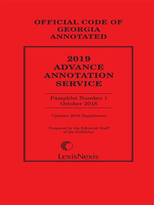 cover image of Georgia Advance Annotated Service