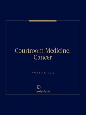 cover image of Courtroom Medicine: Cancer