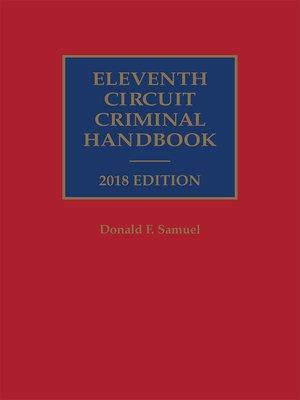 cover image of Eleventh Circuit Criminal Handbook