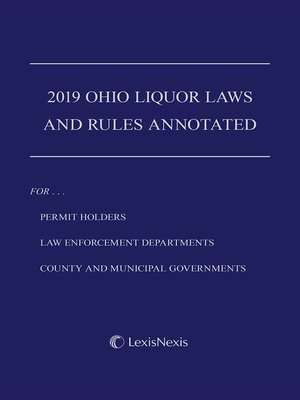 cover image of Ohio Liquor Laws and Rules Annotated