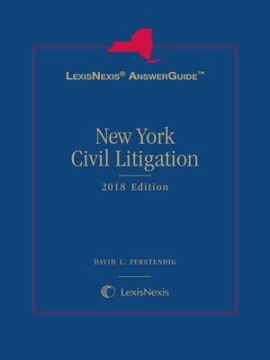 cover image of LexisNexis AnswerGuide: New York Civil Litigation