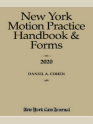 cover image of New York Motion Practice Handbook & Forms