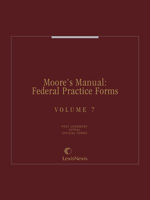 cover image of Moore's Manual: Federal Practice Forms