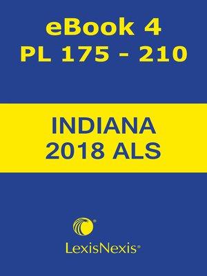 cover image of Burns Indiana Advance Legislative Service