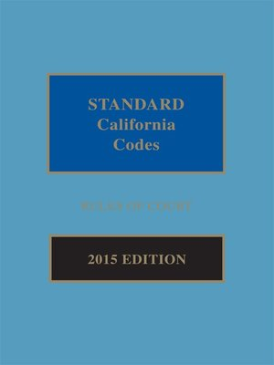 cover image of Standard California Codes