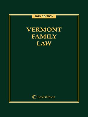 cover image of Vermont Family Law