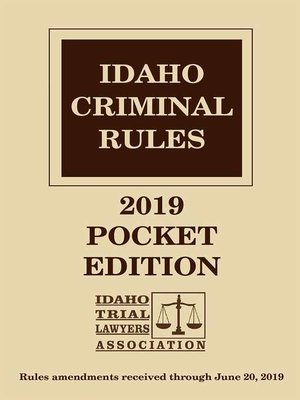 cover image of Idaho Criminal Rules