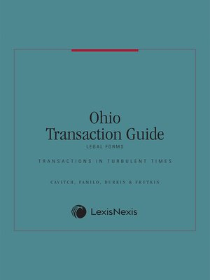 Ohio Transaction GuideLegal Forms By Cavitch Familo Durkin - Ohio legal forms