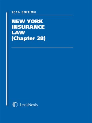 cover image of LexisNexis New York Insurance Law (Chapter 28)