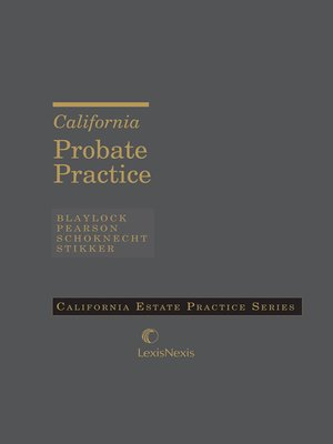 cover image of California Probate Practice