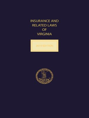 cover image of Insurance and Related Laws of Virginia