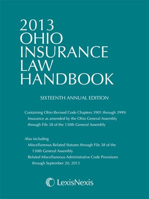 cover image of 2013 Ohio Insurance Law Handbook