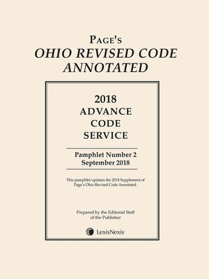 cover image of Page's Ohio Revised Code Annotated
