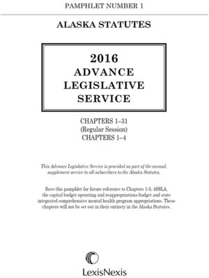 cover image of Alaska Advance Legislative Service
