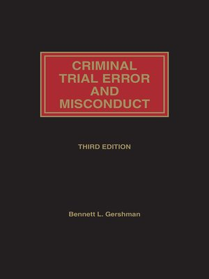 cover image of Criminal Trial Error and Misconduct
