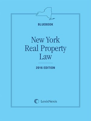 cover image of New York Real Property Law