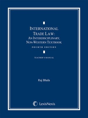 cover image of International Trade Law: An Interdisciplinary, Non-Western Textbook