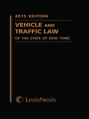 cover image of Vehicle and Traffic Law of the State of New York