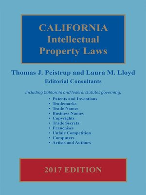 cover image of California Intellectual Property Laws